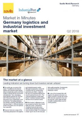 Germany logistics and industrial investment market